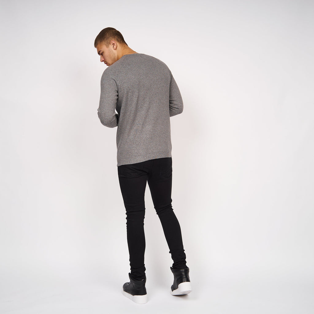 Delpha Knit Light Grey Marl