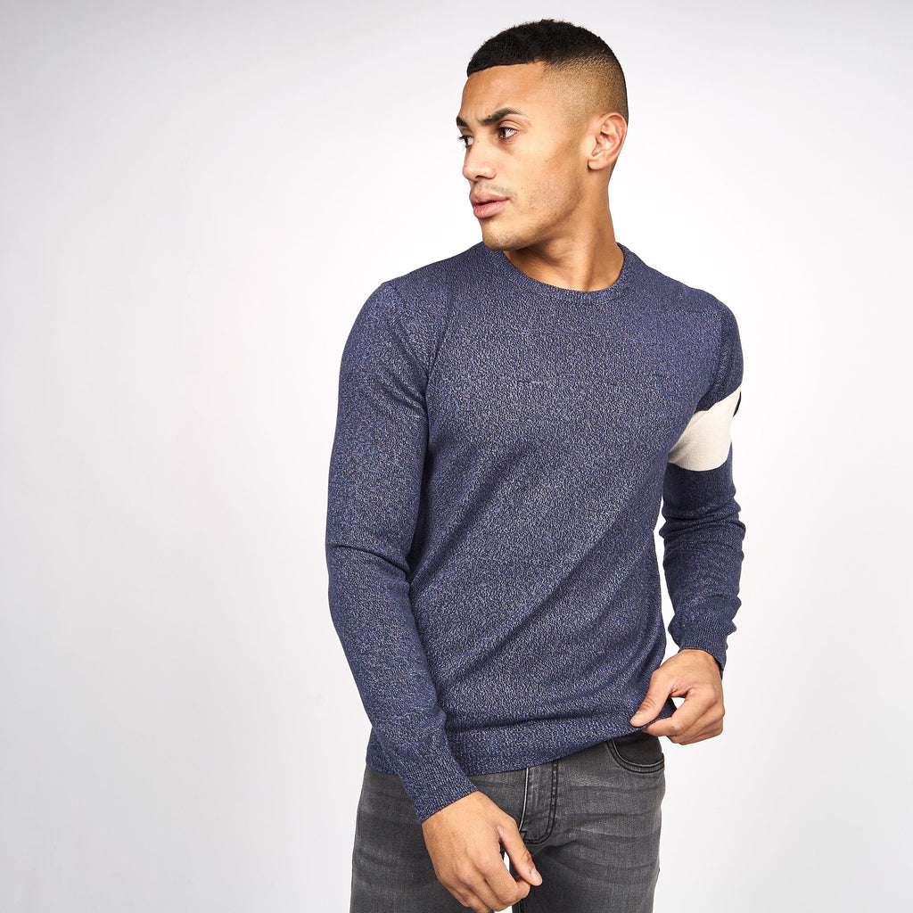 Carlow Knit Black Iris Blue Marl