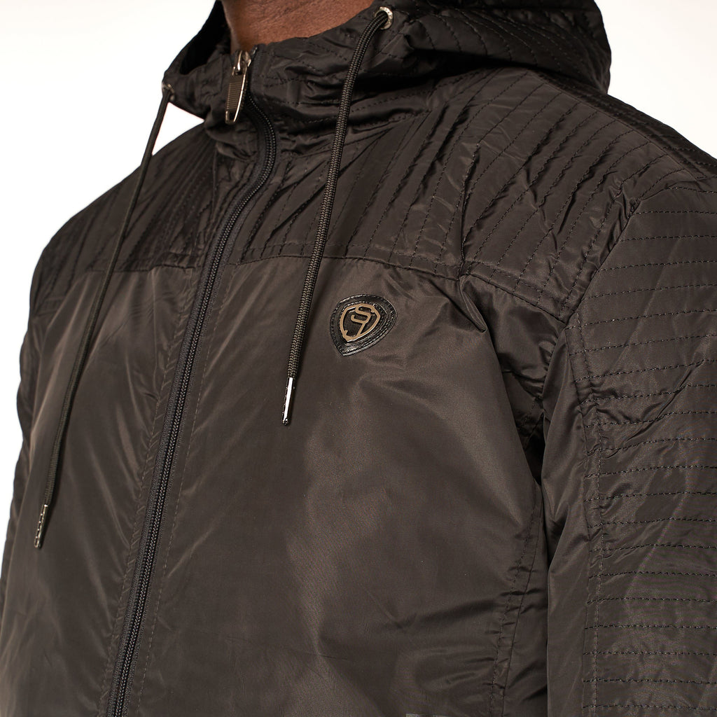 Trigonom Windbreaker Jacket Black