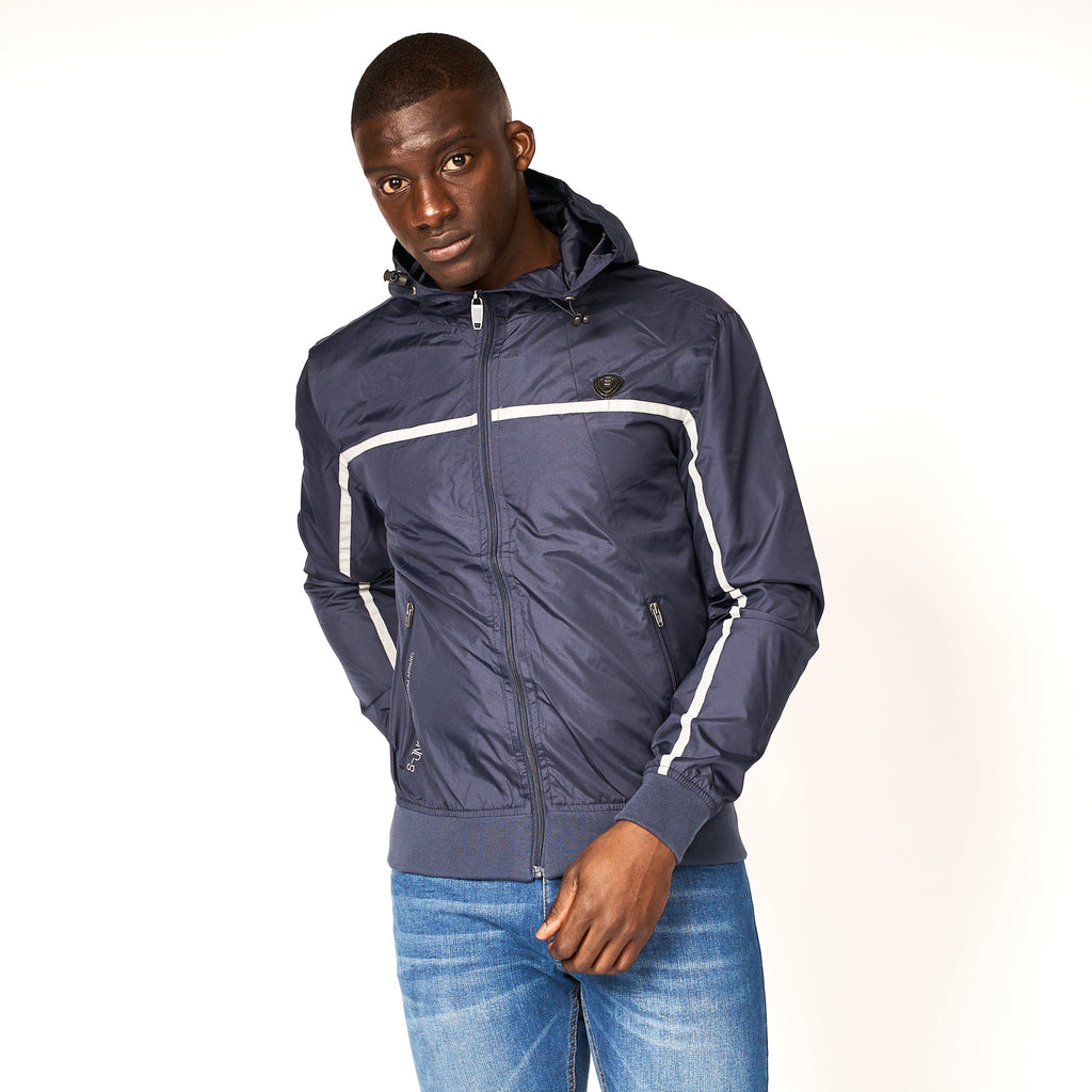 Dihedral Windbreaker Jacket Navy Blazer