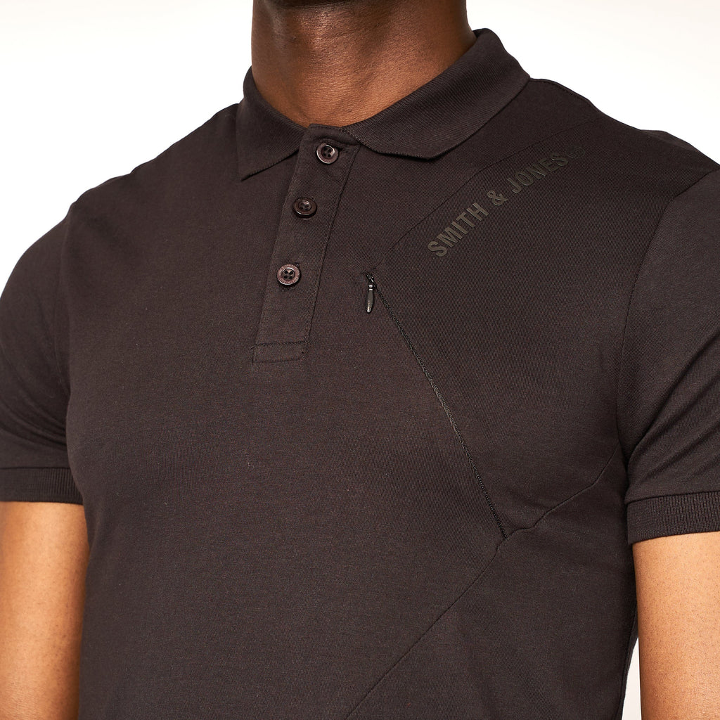 Granby Detail Polo Black