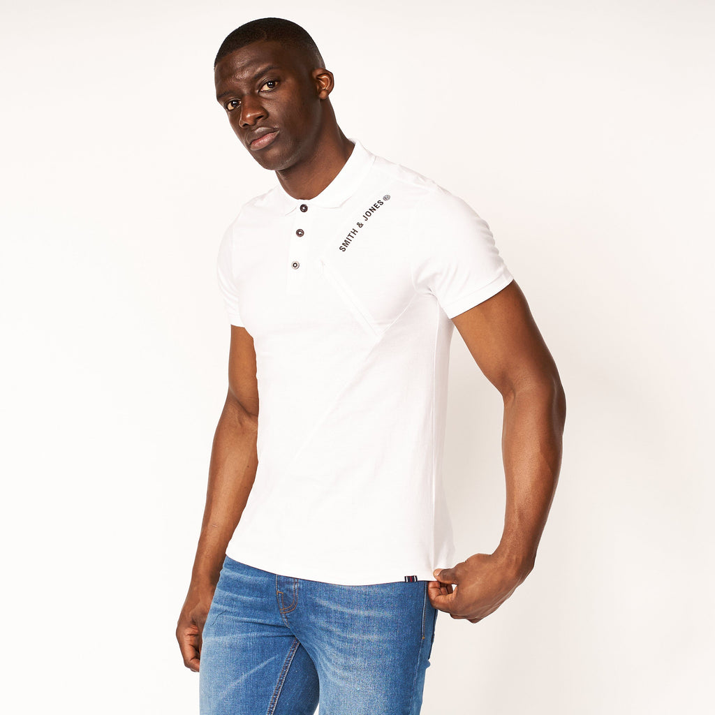 Granby Detail Polo White