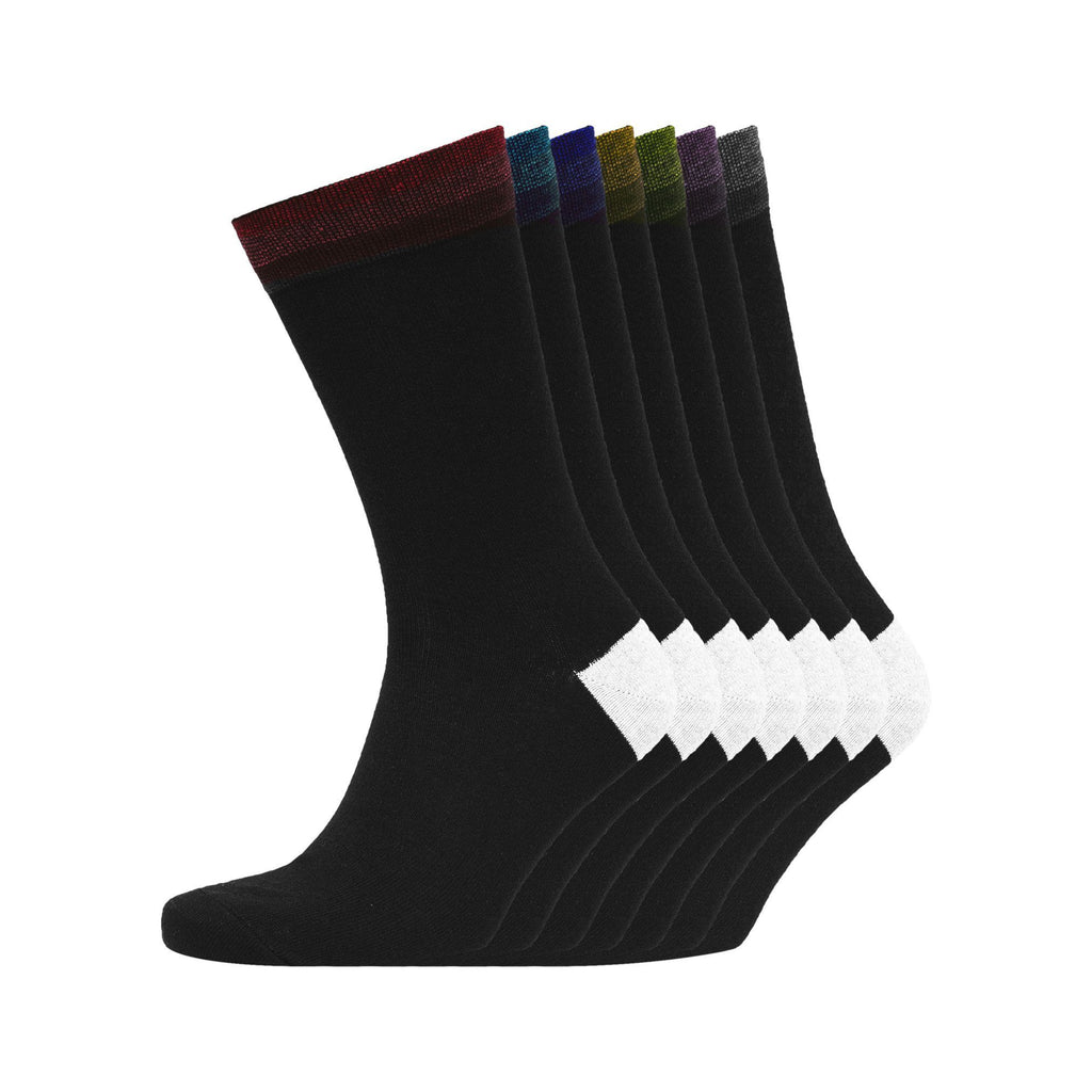 Tribow Socks 7Pk - Black Underwear