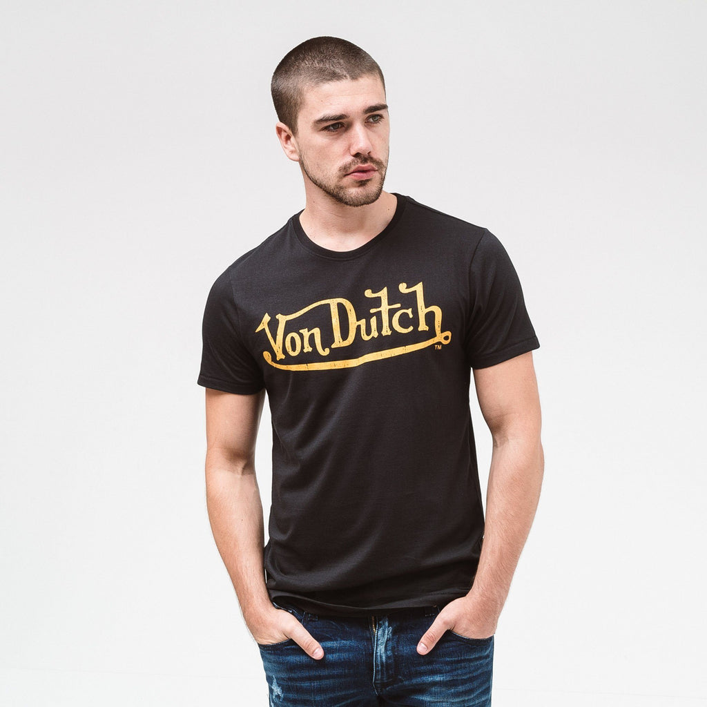 Von Dutch Classic T-Shirt - Black/gold Xxl T-Shirts