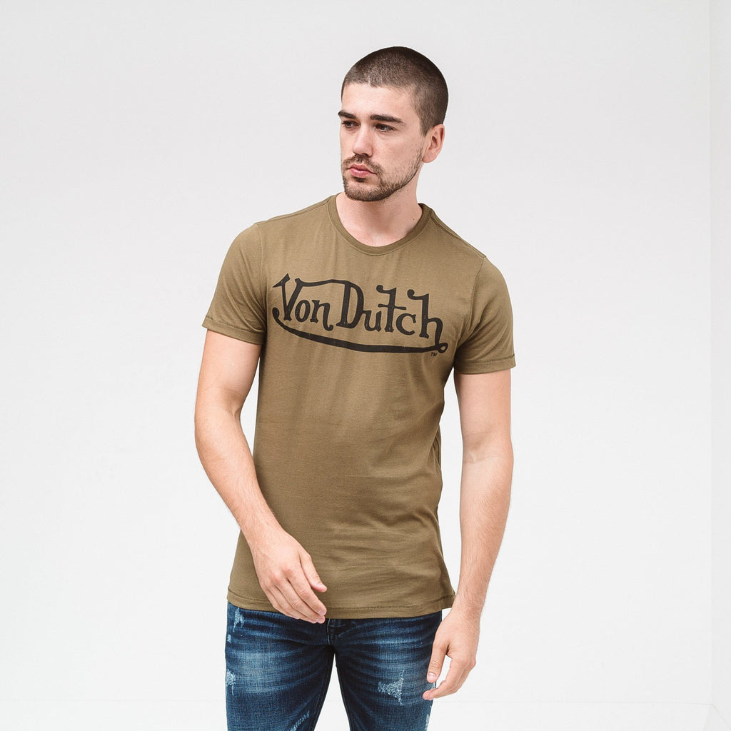 Von Dutch Classic T-Shirt - Olive/black S T-Shirts