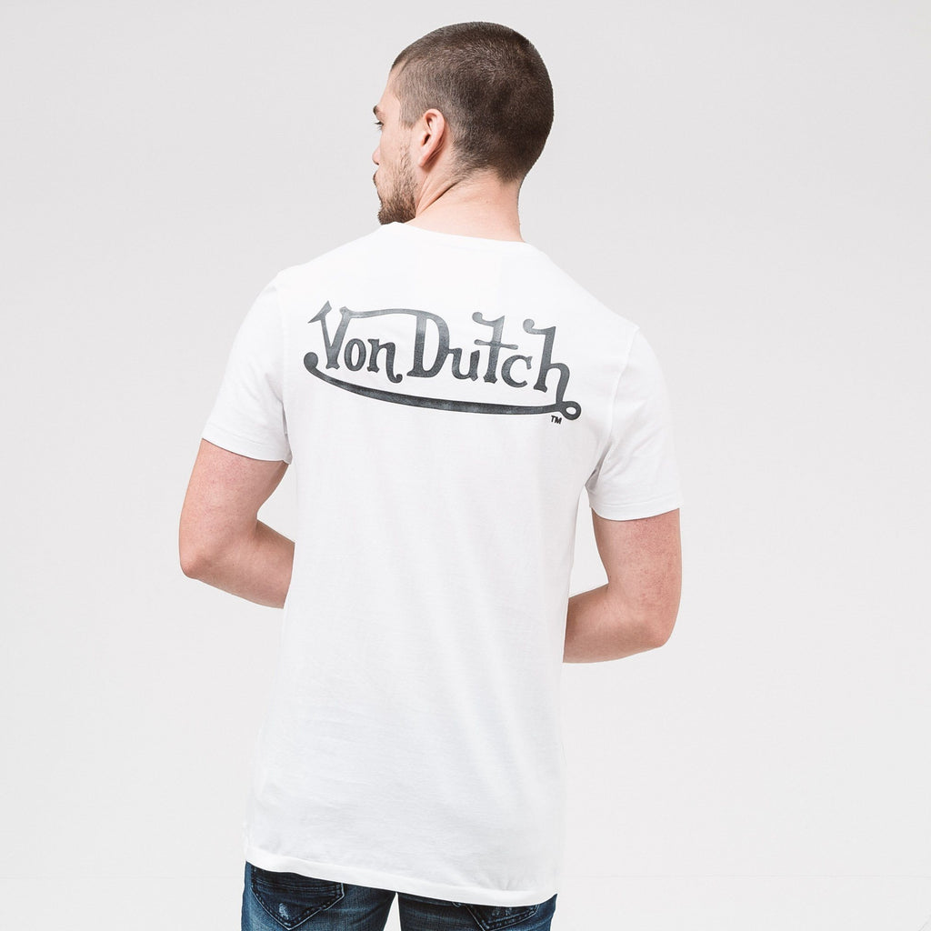 Von Dutch Classic Raised T-Shirt - White/black T-Shirts