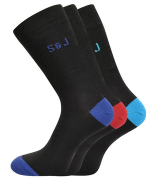 Blear Reg Socks 3pk - Black
