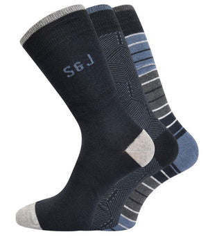 Hessa Reg Socks 3pk - Night Sky