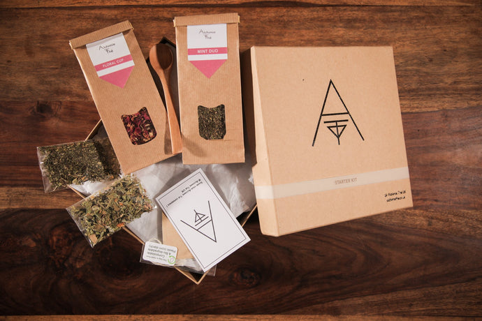 Starter Box - Organic-Natural - Herbal remedies mint and hibiscus, amateur, tea connoisseurs