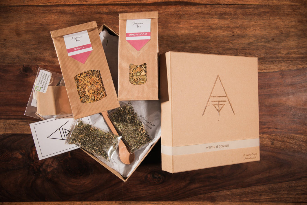 Winter is Coming Box - Organic, Natural Herbal remedies complement your yoga practice.  help the blood circulate through your body, whilst facilitating calm and focus. meditation.