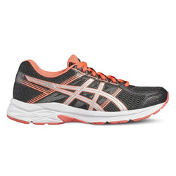 Asics Gel-Contend 4 Black/Silver/Flash Coral - Sports Point