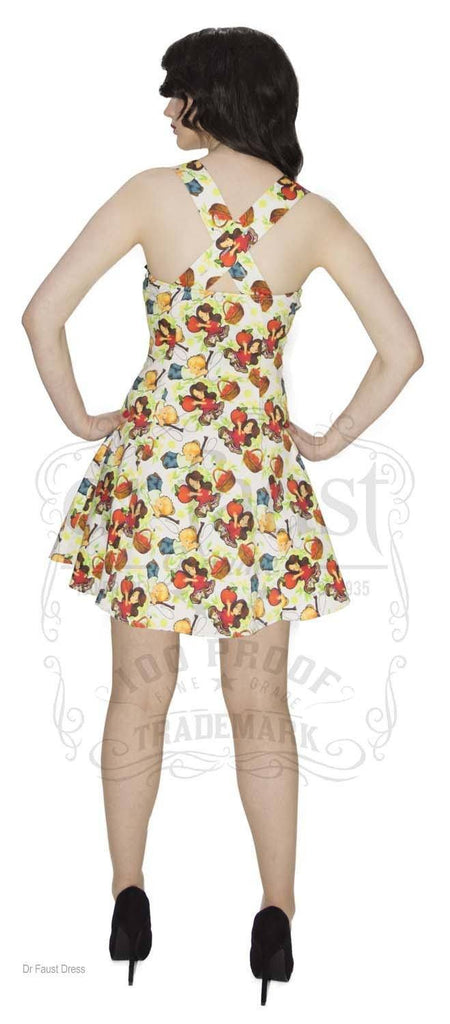 Red Apples Cute Mini Dress - Elizabeth - Dr Faust