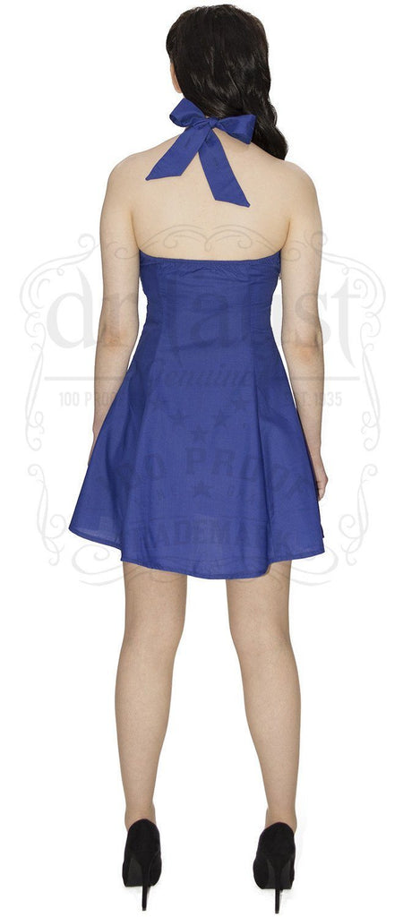 Electric Blue Mini Summer Dress - Layla - Dr Faust