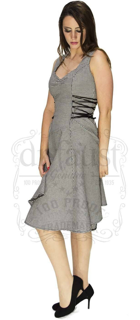 Comma Check Woven Midi Dress - Bella - Dr Faust