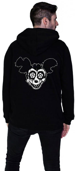 Psycho Mickey Men's Black Hoodie - Sean - Dr Faust