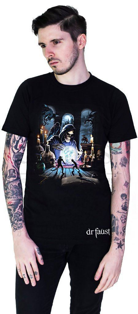 Death's Lair Black T-Shirt - Ryan - Dr Faust