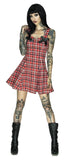 Alternative Tartan Mini Dress - Jordan - Dr Faust
