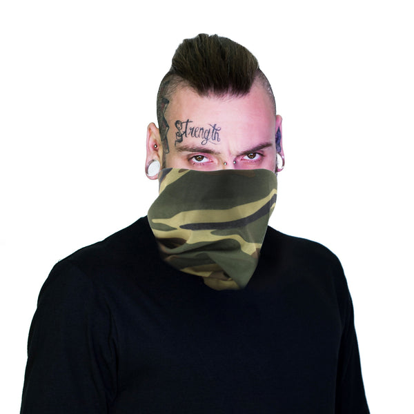 Army Jaw Face Mask Covering - Cam