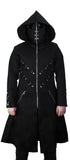 D-Ring Black Goggles Long Cotton Coat - Cassius - Dr Faust