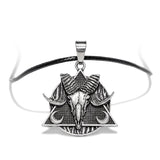 Black Occult Symbol DeltaRam Pendant and Necklace - Elise - Dr Faust