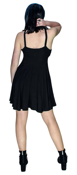 Black Strap Pentagram Mini Dress - Onna - Dr Faust