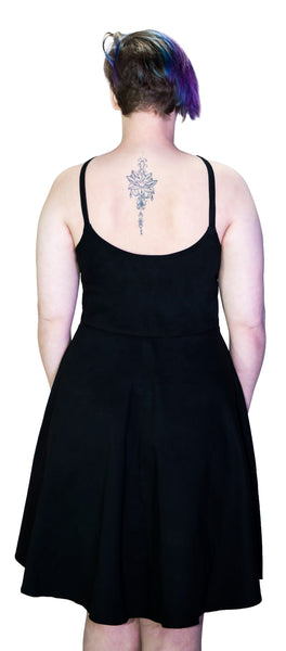 Black Strap Pentagram Plus Size Midi Dress - Onna - Dr Faust