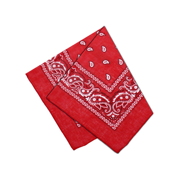 Black and White Design Red Cotton Bandana - Everard - Dr Faust