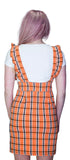 Checked Pinafore Orange Tartan Dress and T-Shirt Set - Perla - Dr Faust