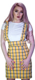 Checked Pinafore Yellow Tartan Dress and T-Shirt Set - Kairi - Dr Faust
