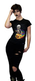 Cheezburger Astronaut Cat Black T-Shirt - Kaylin - Dr Faust
