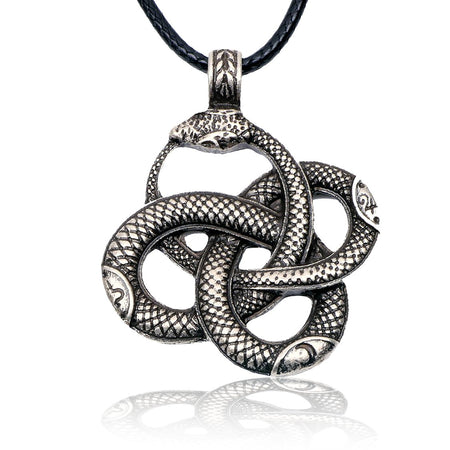 Coiled Snakes Pendant and Black Necklace - Isabel - Dr Faust