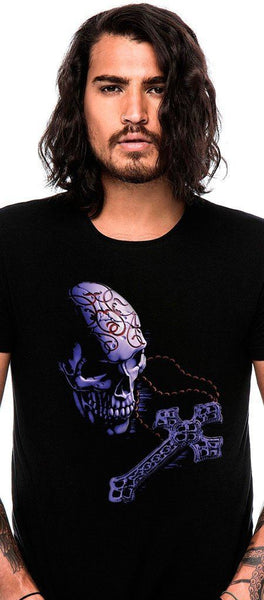 Skull and Cross Black T-Shirt - Malachi