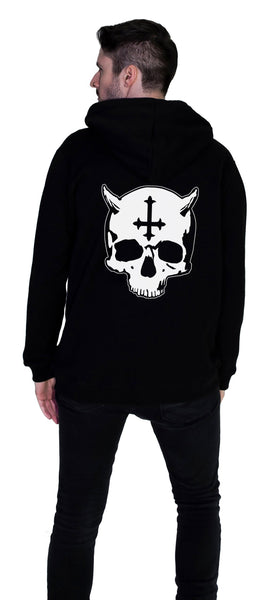 Devil's Skull Men's Black Hoodie - Michael - Dr Faust