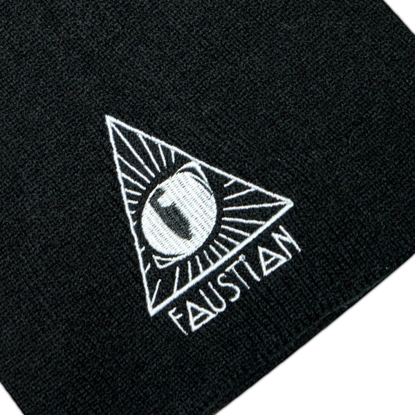 3rd Evil Cat Eye Black Beanie - Gayle - Dr Faust
