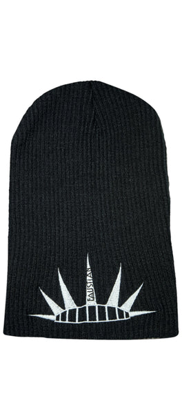 Spiky Tiara Embroidered Black Beanie - Justice