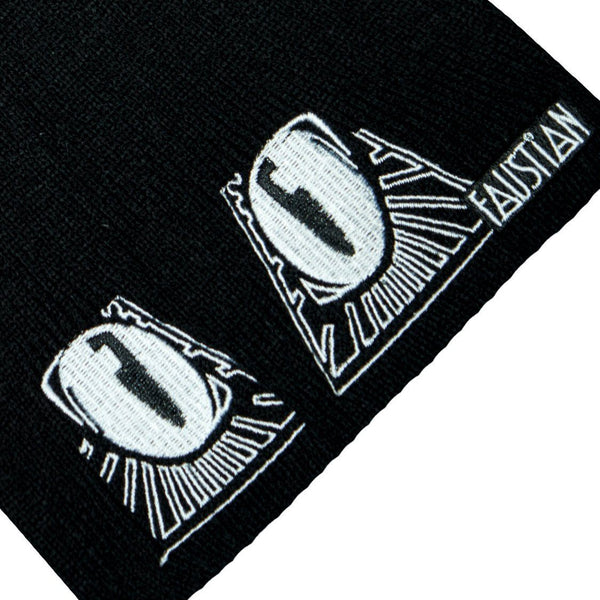Evil Cat Eyes Black Beanie - Evanora - Dr Faust