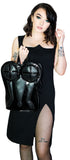 Extravagant Corset Black Vegan Leather Hand Bag - Anilius - Dr Faust