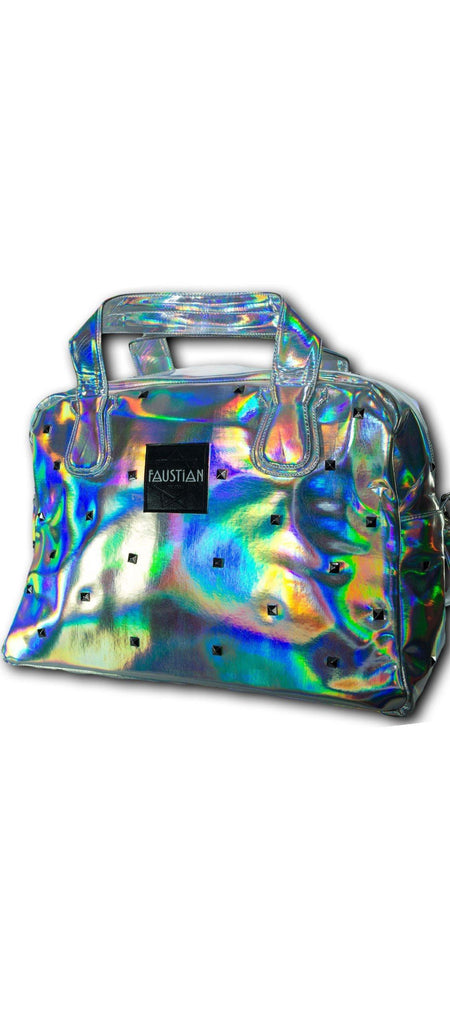 Faustian Cosmic Holographic Studs Hand Bag - Happy - Dr Faust