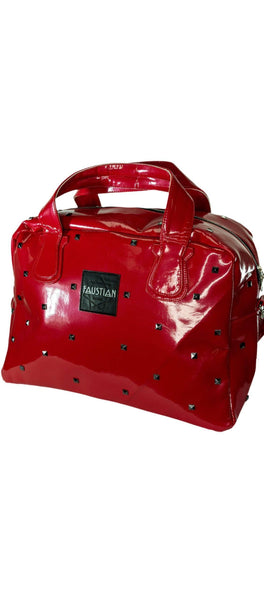 Faustian Red Patent Pyramid Hand Bag - Ferastin - Dr Faust