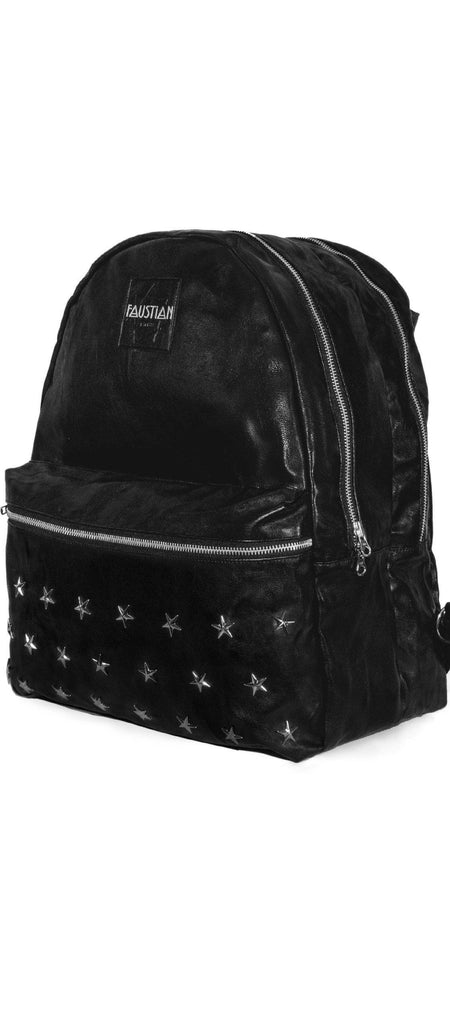 Faustian Star Vegan Leather Black Backpack - Mamba - Dr Faust