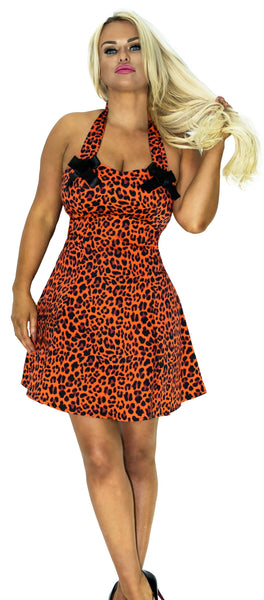 Fire Leopard Mini Dress - Jessica - Dr Faust