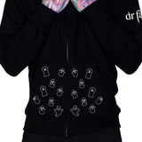 Friendly Ghosts Thick Men's Black Hoodie - Bentlee - Dr Faust