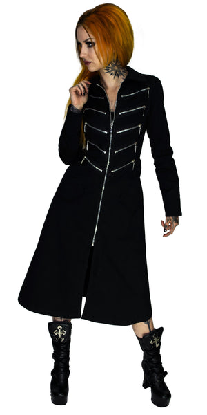Alternative Matrix Long Cotton Black Coat - Bellona - Dr Faust
