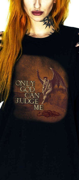 Only God Can Judge Me Black T-Shirt - Aubrielle - Dr Faust