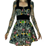 Hieroglyphs Print Mini Dress - Anaya - Dr Faust