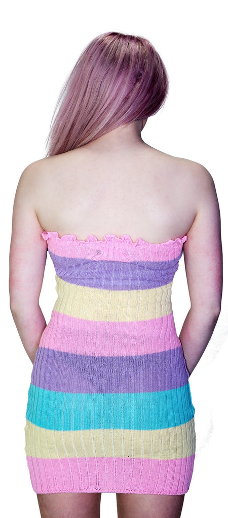 Knitted Multicoloured Bodycon Mini Dress - Zaria - Dr Faust
