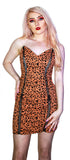 Leopard Animal Print Lace-Up Mini Dress - Robin - Dr Faust