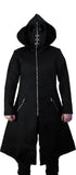 Black Goggles Long Cotton Coat - Gregory - Dr Faust