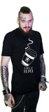 Make It Black Coffee Men's Black T-Shirt - Dennis - Dr Faust