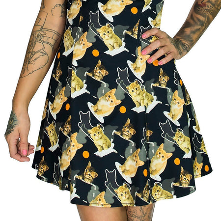 Meow for 3D Cats Mini Dress - Lilah - Dr Faust